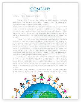 Global: Freundschaft und einheit Briefkopf Vorlage #03475