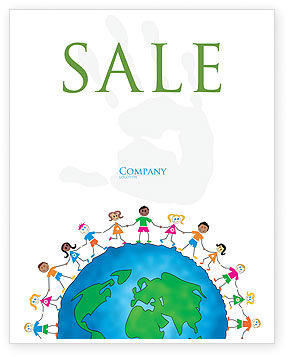 Friendship And Unity Sale Poster Template, 03475, Education & Training — PoweredTemplate.com