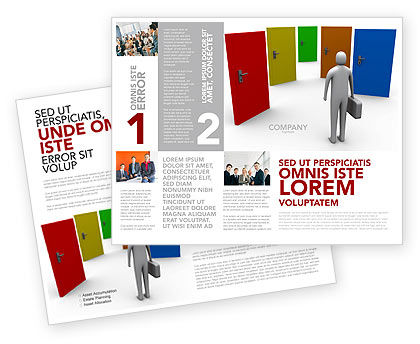 Choices Brochure Template, 03476, Education & Training — PoweredTemplate.com