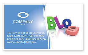 Blog Business Card Template, 03477, Careers/Industry — PoweredTemplate.com