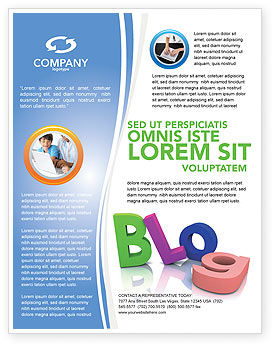 Blog Flyer Template, 03477, Careers/Industry — PoweredTemplate.com