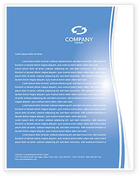 Blog Letterhead Template, 03477, Careers/Industry — PoweredTemplate.com
