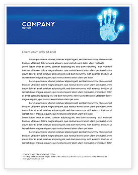 Identity Letterhead Template, 03478, Technology, Science & Computers — PoweredTemplate.com
