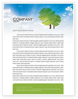 Nature & Environment: Greenery Letterhead Template #03479
