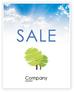 Greenery Sale Poster Template, 03479, Nature & Environment — PoweredTemplate.com