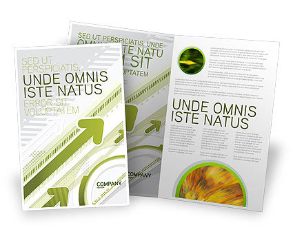 Rising Brochure Template, 03480, Abstract/Textures — PoweredTemplate.com