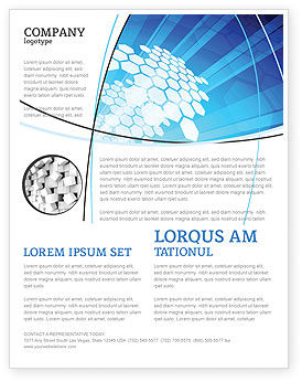 Fragments Flyer Template, 03481, Abstract/Textures — PoweredTemplate.com