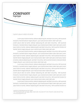 Fragments Letterhead Template, 03481, Abstract/Textures — PoweredTemplate.com