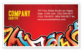 Art & Entertainment: Graffiti Business Card Template #03484
