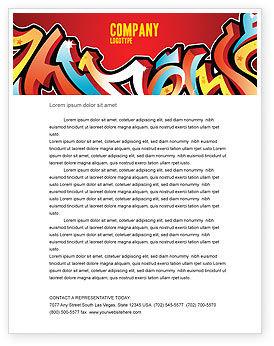 Graffiti Letterhead Template, 03484, Art & Entertainment — PoweredTemplate.com
