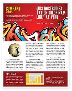Art & Entertainment: Graffiti Newsletter Template #03484