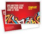 Art & Entertainment: Graffiti Postcard Template #03484