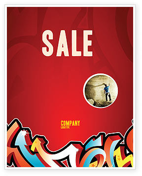 Graffiti Sale Poster Template, 03484, Art & Entertainment — PoweredTemplate.com