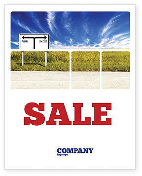 Successful Way Sale Poster Template, 03487, Business Concepts — PoweredTemplate.com