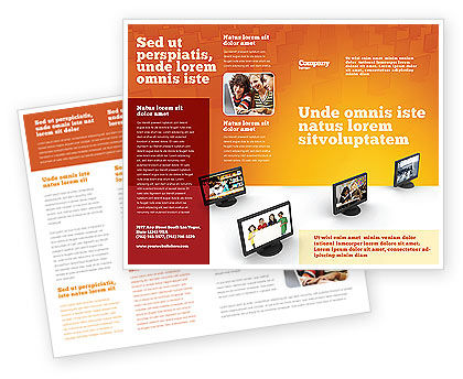 Education Programs Brochure Template, 03489, Education & Training — PoweredTemplate.com