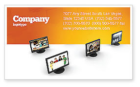 Education Programs Business Card Template, 03489, Education & Training — PoweredTemplate.com