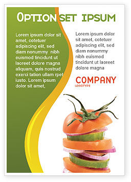 Food & Beverage: Fresh Vegetables Ad Template #03490