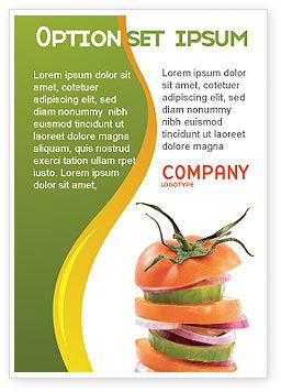 Food & Beverage: 광고 템플릿 - 신선한 야채 #03490