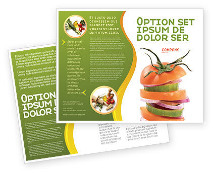 Food & Beverage: Fresh Vegetables Brochure Template #03490
