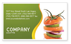 Food & Beverage: Fresh Vegetables Business Card Template #03490