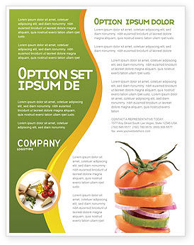 Fresh Vegetables Flyer Template, 03490, Food & Beverage — PoweredTemplate.com