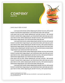 Fresh Vegetables Letterhead Template, 03490, Food & Beverage — PoweredTemplate.com