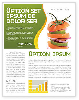 Fresh Vegetables Newsletter Template, 03490, Food & Beverage — PoweredTemplate.com