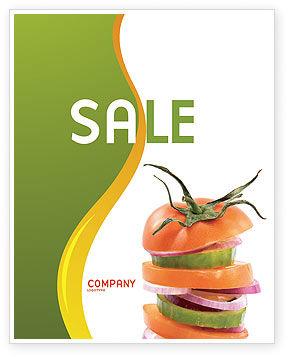 Fresh Vegetables Sale Poster Template, 03490, Food & Beverage — PoweredTemplate.com