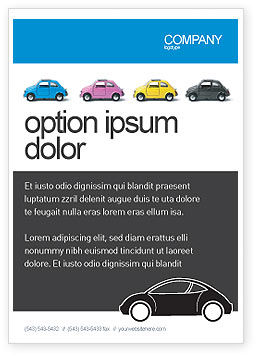 Cars/Transportation: Minicars Ad Template #03491
