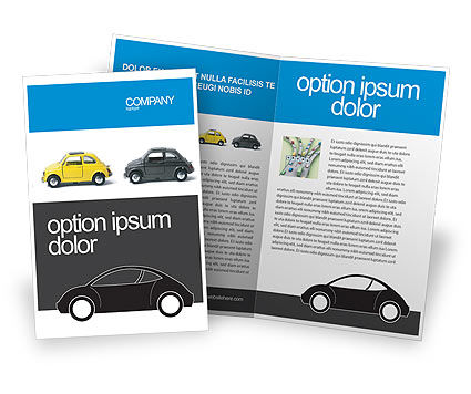 Minicars Brochure Template, 03491, Cars/Transportation — PoweredTemplate.com