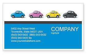 Cars/Transportation: Minicars Business Card Template #03491