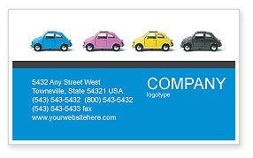 Cars/Transportation: Minicars Visitekaartje Template #03491