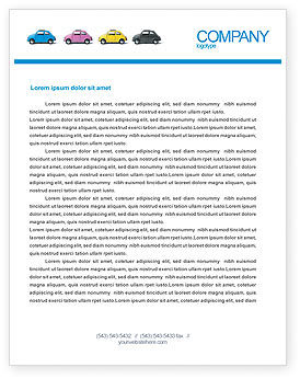 Cars/Transportation: Minicars Letterhead Template #03491