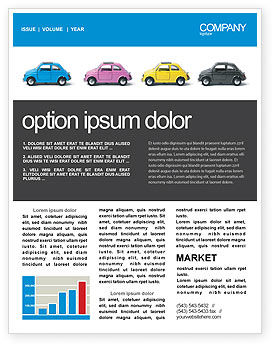 Cars/Transportation: Modèle de Newsletter de minicars #03491