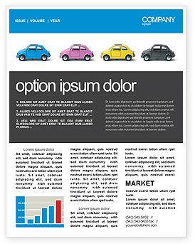 Cars/Transportation: Minicars Newsletter Template #03491