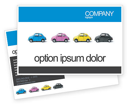 Cars/Transportation: Minicars Postcard Template #03491