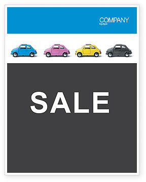 Minicars Sale Poster Template, 03491, Cars/Transportation — PoweredTemplate.com