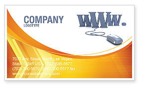 Technology, Science & Computers: Web Business Card Template #03493