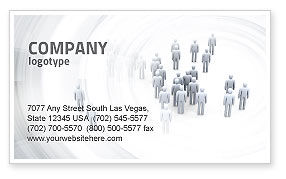 Crowd of People Business Card Template