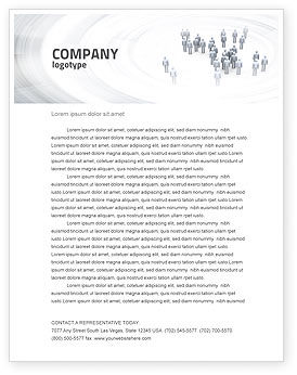 Business Concepts: Crowd of People Letterhead Template #03496