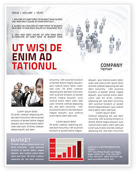 Crowd of People Newsletter Template, 03496, Business Concepts — PoweredTemplate.com