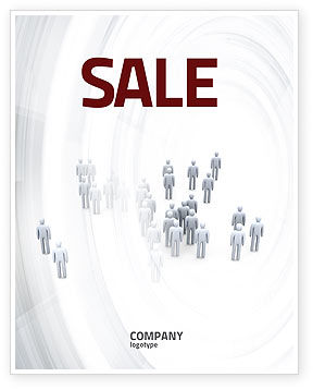 Crowd of People Sale Poster Template, 03496, Business Concepts — PoweredTemplate.com