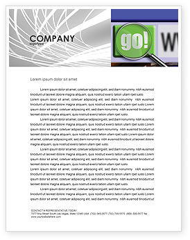 Search Engine Letterhead Template, 03497, Technology, Science & Computers — PoweredTemplate.com