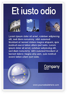European Union Sign Ad Template, 03499, Flags/International — PoweredTemplate.com
