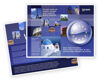 European Union Sign Brochure Template Design And Layout Download