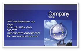 Flags/International: European Union Sign Business Card Template #03499