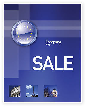 Flags/International: European Union Sign Sale Poster Template #03499