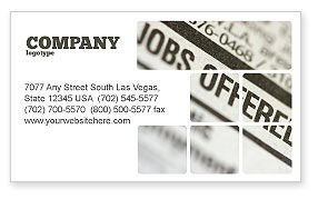 Recruiting Business Card Template