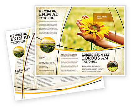 Nature & Environment: Summer Flower Brochure Template #03501