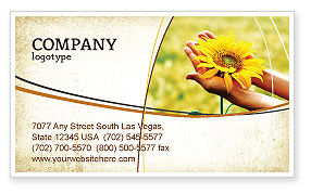 Summer Flower Business Card Template, 03501, Abstract/Textures — PoweredTemplate.com